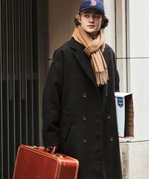 ビーバーメルトンロングチェスターコート2019WINTER(EMMA CLOTHES)ブラック