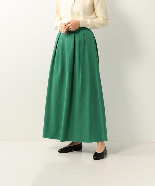 <Steven Alan>COTTON PIQUE MAXI SKIRT/スカート◆