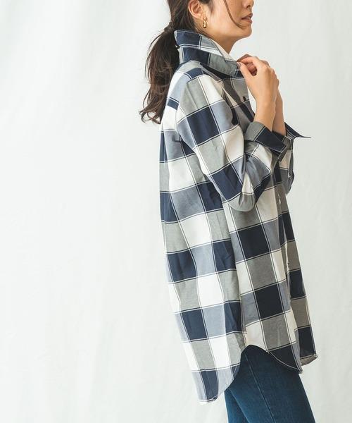 登場! 【セール】イタリアンチェック長袖ロングシャツ(シャツ/ブラウス)|NARACAMICIE(ナラカミーチェ)のファッション通販, 特別価格:b6926433 --- fahrservice-fischer.de
