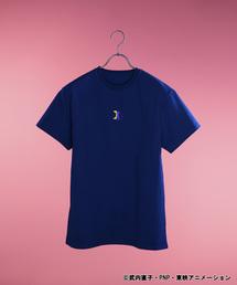 ∴WEGO/【美少女戦士セーラームーンコラボ】ルナワンポイント刺繍Tシャツ(Tシャツ/カットソー)
