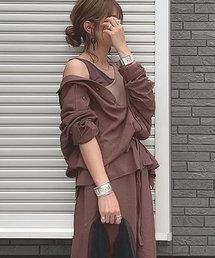 Re:EDIT(リエディ)のsoftリネンルーズサファリシャツジャケット(テーラードジャケット)