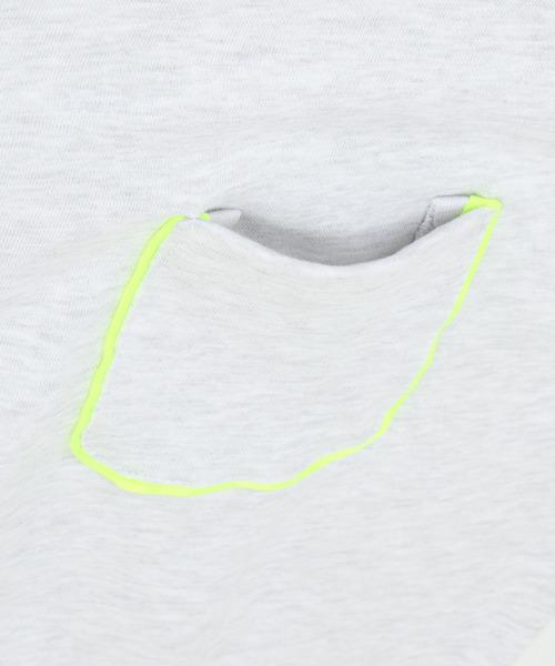 NO NEED(ノーニード)の「ネオンカラーパイピングラインスウェットクルーネックプルオーバー(スウェット)」|詳細画像