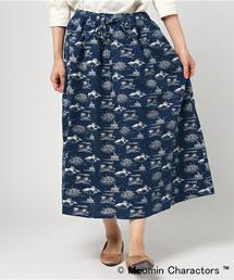 MOOMIN(ムーミン)の「ムーミン海柄ギャザースカート(スカート)」