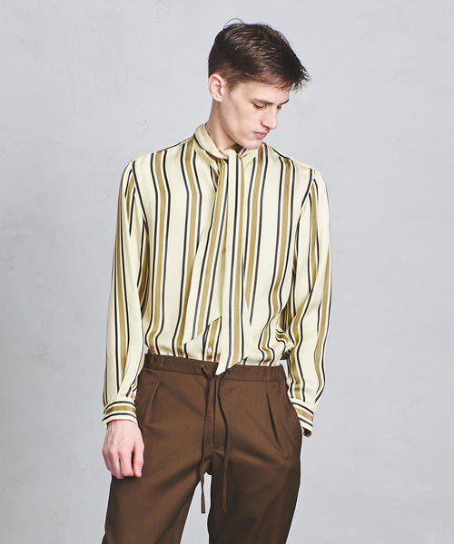 UAHS スカーフ バンドカラー シャツ ◆