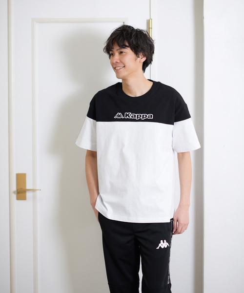 8b8d737bc9bb0 Kappa カッパ 胸切り替えビッグTシャツ(Tシャツ カットソー ...