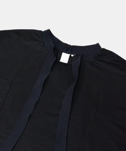 【tac:tac】 tencel jerser ribbed t-shirt
