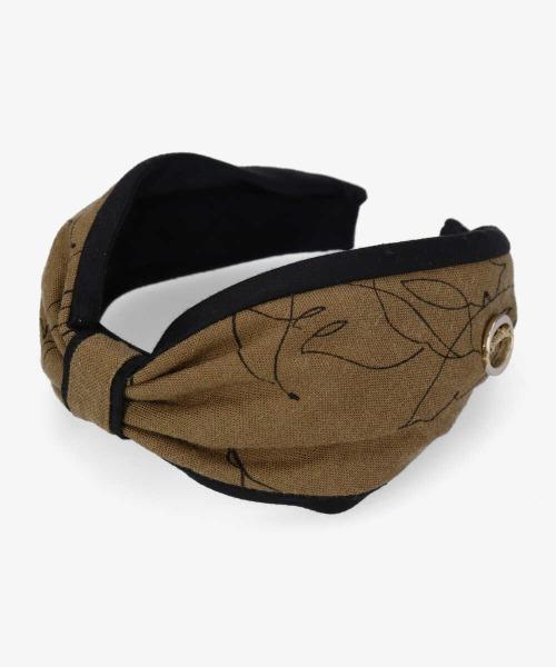 【Chapeaud'O】PT Wide Headband / 【シャポードオー】プリントワイド ヘッドバンド