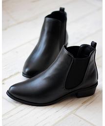 LibertyDoll(リバティードール)の美シルエット、やわらかい履き心地 美脚サイドゴアブーツ/ 5448-SA(ブーツ)