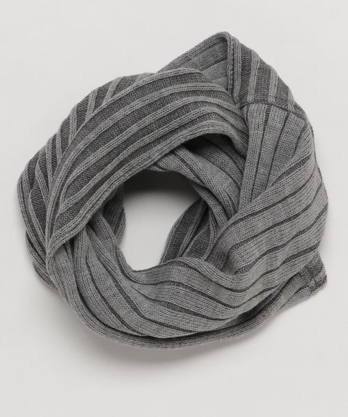 ■WOOL RIB TWIST NECKWARMER