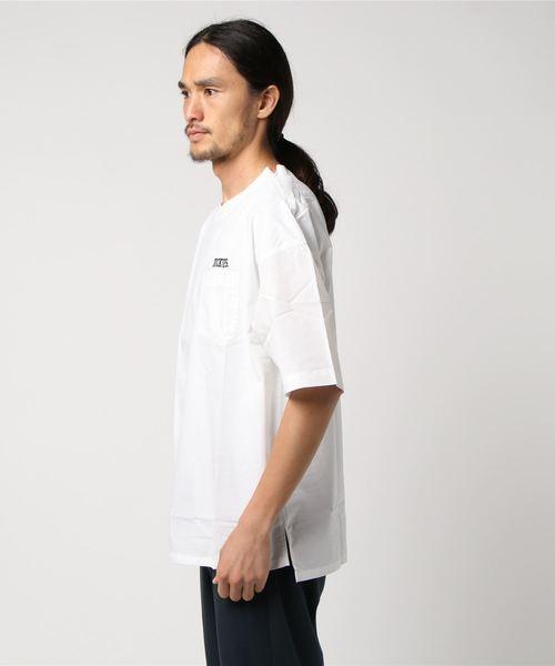 COOLMAX(R) 刺繍入り半袖プルオーバーシャツ [ オーバーサイズ ]