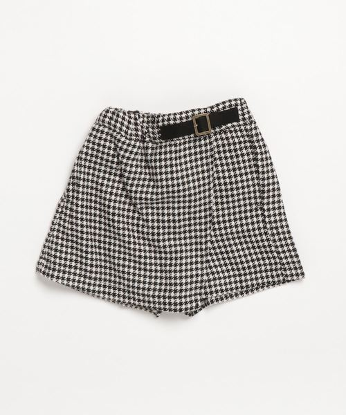 339c213e98667e petit main(プティマイン)の「ラップキュロットスカート(スカート)」|ブラック