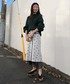 「AMERI PASS CODE RETRO KNIT SKIRT」