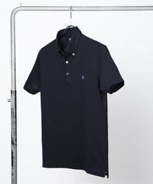 LANVIN en Bleu(ランバンオンブルー)のCOOL MAX ボタンダウン 半袖ポロシャツ【WEB限定】(ポロシャツ)