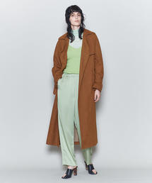 <6(ROKU)>FAKE SUEDE TRENCH COAT/コート