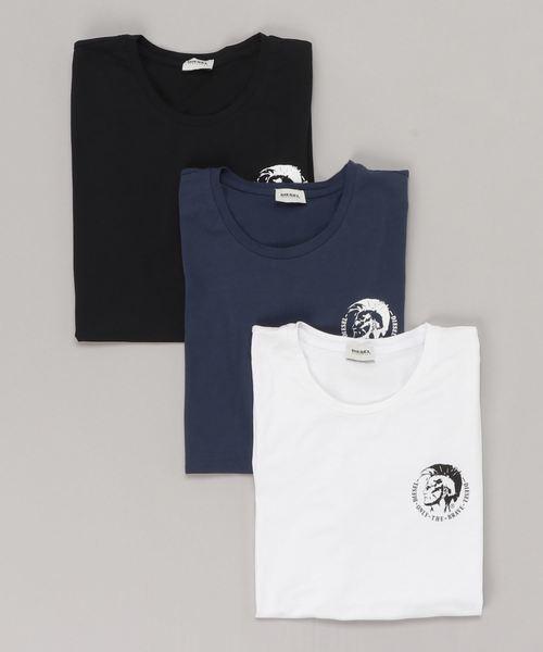 DIESEL UMTEE-RANDALTHREEPAC ディーゼル 3パック クルーネック ワンポイントTシャツ