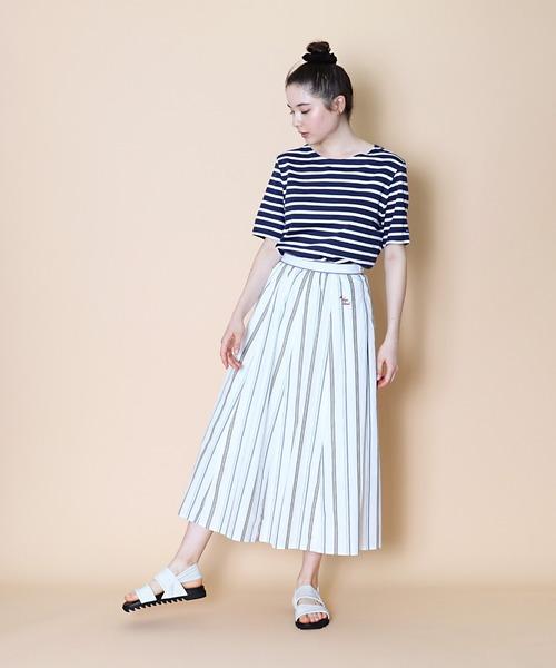 【  Le Sans Pareil / ルサンパレイユ】MST PANEL SKIRT マルチストライプ パネル スカート