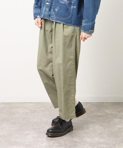 【 CAL O LINE / キャル オー ライン 】2TUCK CHINO PANTS / 2タッグ チノパンツ  CL211-092・・