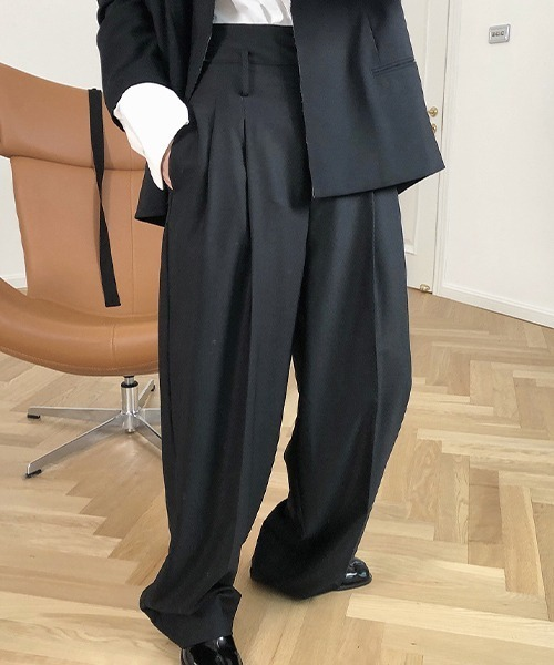 【chuclla】【2021/SS,】High-waist tuck wideslacks chw1481