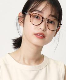 ボストン型伊達眼鏡 9465 SPIブラウン