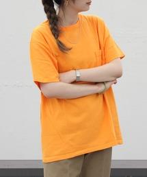 GOODWEAR / グッドウェア ポケットTEE  POCKET TEEオレンジ系その他