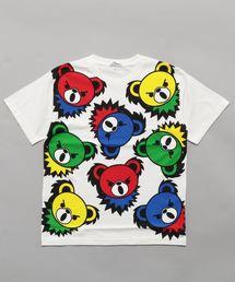 HYS BEAR PANEL pt Tシャツ【L】ホワイト