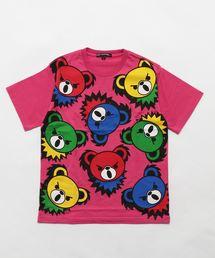 HYS BEAR PANEL pt Tシャツ【L】ピンク