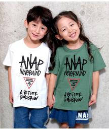 ANAP kids(アナップキッズ)の手描きロゴBIGTシャツ(Tシャツ/カットソー)