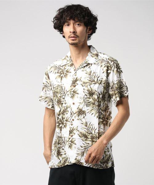 レーヨンアロハシャツ/オープンカラー/開襟