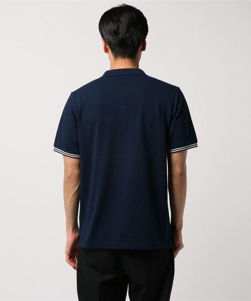COOLMAX(R) 鹿の子ロゴ刺繍入りポロシャツ