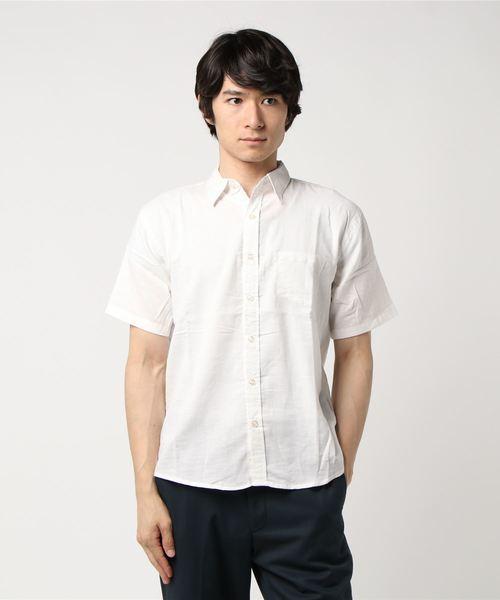 【WEB店限定】【セレクト】綿麻ストレッチ 半袖シャツ