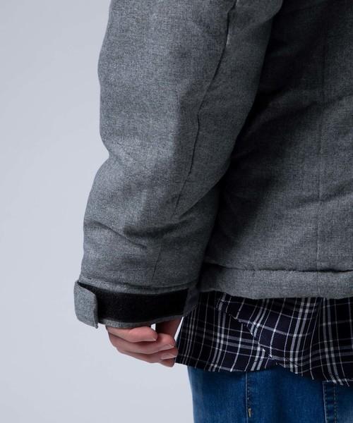 MONO-MART(モノマート)の「撥水加工ウールライクキルティング中綿フードブルゾン(ダウンジャケット/コート)」|詳細画像
