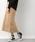 LEPSIM(レプシィム)の「コットンポリウレタンミディナロースカート 822730(スカート)」|ベージュ