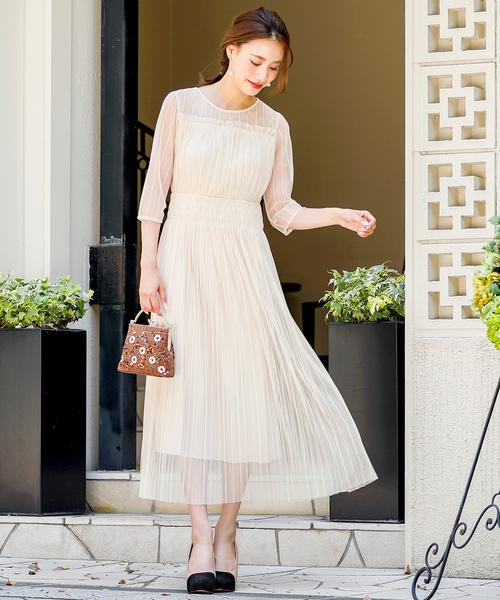 新品同様 チュールプリーツ ワンピースドレス// 結婚式ワンピース・お呼ばれパーティードレス(ワンピース)|kana(カナ)のファッション通販, 靴のナカムラ:d7718ff7 --- blog.buypower.ng