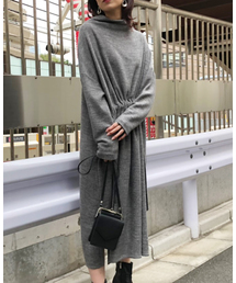 AMERI(アメリ)のOVER DRAWSTRING DRESS(ワンピース)
