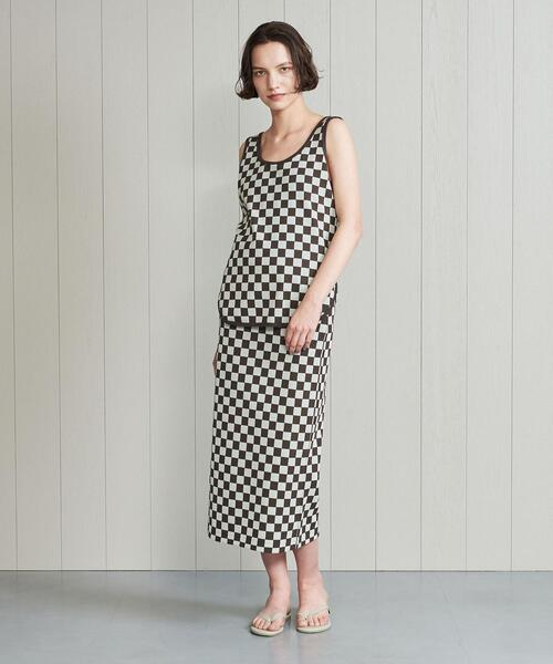 <INSCRIRE>CHECKERFLAG TIGHT SKIRT/スカート.