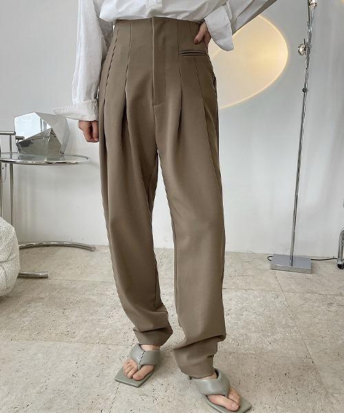 【chuclla】【2021/SS】Back belt high waist pants chw1483