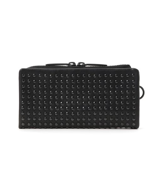 PATRICK STEPHAN(パトリックステファン)の「Leather long wallet 'all-studs' 2 ロングウォレット(財布)」|ブラック×ブラック