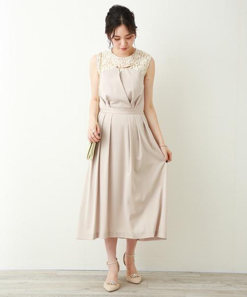 84e1e9d1bf3d1 MARLENE JOBERT(マルレーヌ ジョベル)の「結婚式 ベアトップ風ワンピース(ドレス