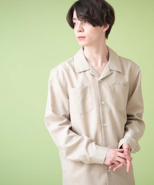 ポリトロリラックスオープンカラーシャツ L/S