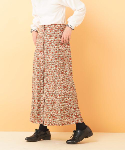 フェイクボタンマーメイドスカート