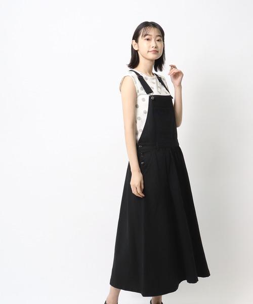【 ubasoku / ウバソク 】デニムカラージャンパースカート BNT ub0175