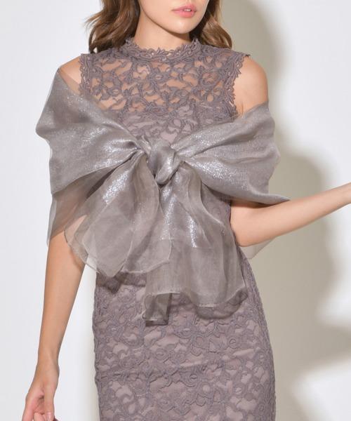 My shawty(マイシャウティー)の「glitter silk stole(ストール/ショール)」|シルバー