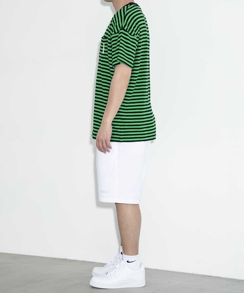 S/S PILE BORDER POCKET TEE