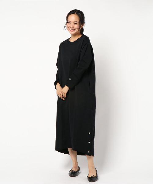 偉大な コンパクト裏毛ロングワンピース(ボタンスリット)(ワンピース) TEEE(ティー)のファッション通販, ナカジョウマチ:6694f61d --- tsuburaya.azurewebsites.net