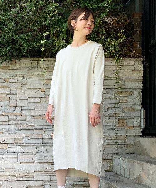 最新 コンパクト裏毛ロングワンピース(ボタンスリット)(ワンピース)|TEEE(ティー)のファッション通販, エムアール企画:2d6e5f57 --- tsuburaya.azurewebsites.net