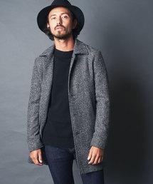 Magine(マージン)のWOOL TWEED BAL COLLAR SINGLE COAT:ウール ツイード バルカラーコート シングルコート(ステンカラーコート)