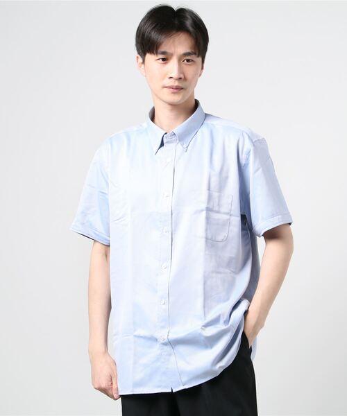 トロッターシャツ 半袖ボタンダウン