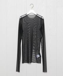 <WE11DONE>MESH CREW NECK LONG SLEEVE/カットソー.