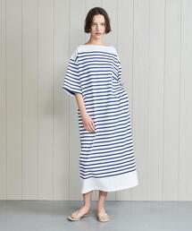 <INSCRIRE>BORDER LONG DRESS/ワンピース.