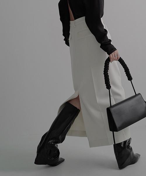 【chuclla】【2021/SS】Back-slit long skirt chw1487